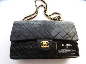 Chanel, schwarze Tasche, Original, Vintage