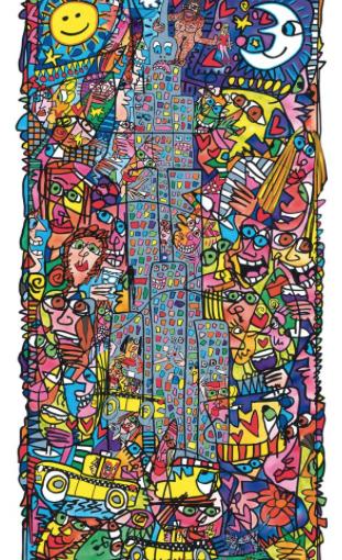 Neues von den Händlern:  Galerie Augustin kommt mit Werk von James Rizzi